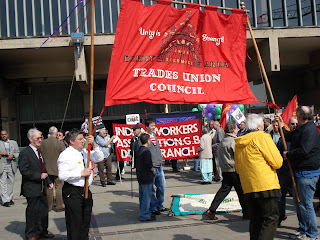 Start of Derby Silk Workers Procession 28 April 2007