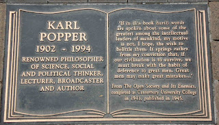 Karl Popper plaque Christchurch NZ