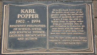 Karl Popper plaque Christchurch NZ