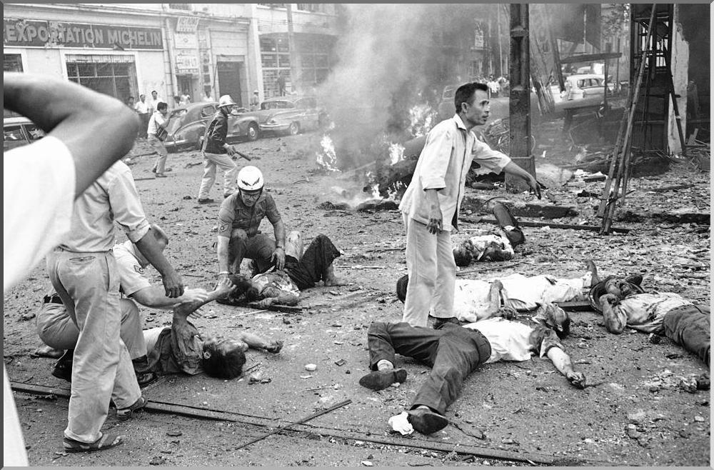 A BOMB BLAST: March 30, 1965.