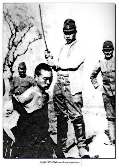 beheading chinese man with sword