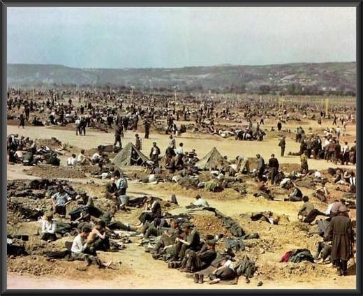 German POW Herded Remagen