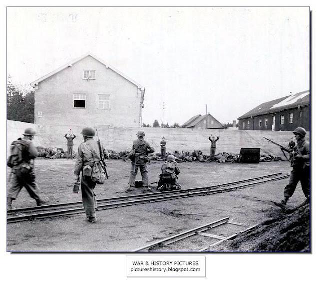 American soldiers killing SS guards Dachau