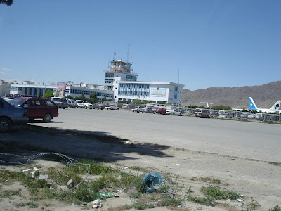 kabul airport. hot arrival at Kabul airport