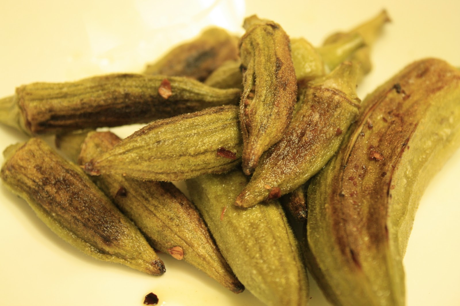 Uncovering Food: Spicy Baked Okra Fries