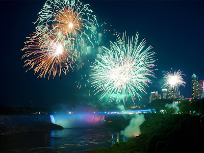 Niagara Falls Fire works photo
