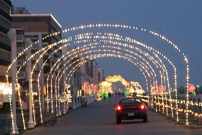 Virginia Beach with lights