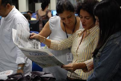 El diario 'A Gazeta' de Vitória, Espírito Santo, cumple 80 años. Foto: R. Salaverría, 10/09/2008