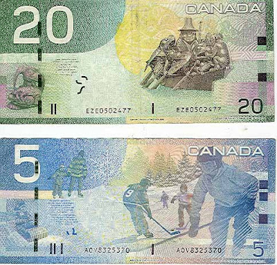 canadian money clipart. gorgeous Canadian currency