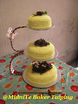 3TIER CAKES WITH CAKE STAND