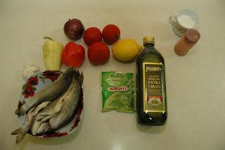 Articole culinare : pastrav cu rosii si ardei