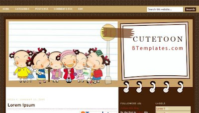 cutetoon blogger template