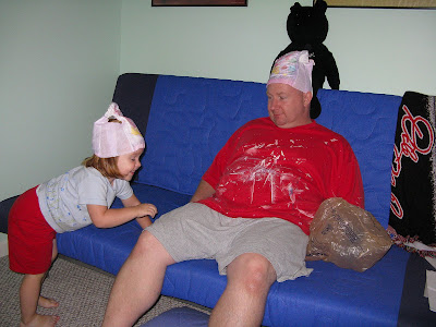 ... play diaper hats this particular day she played diaper hats with daddy