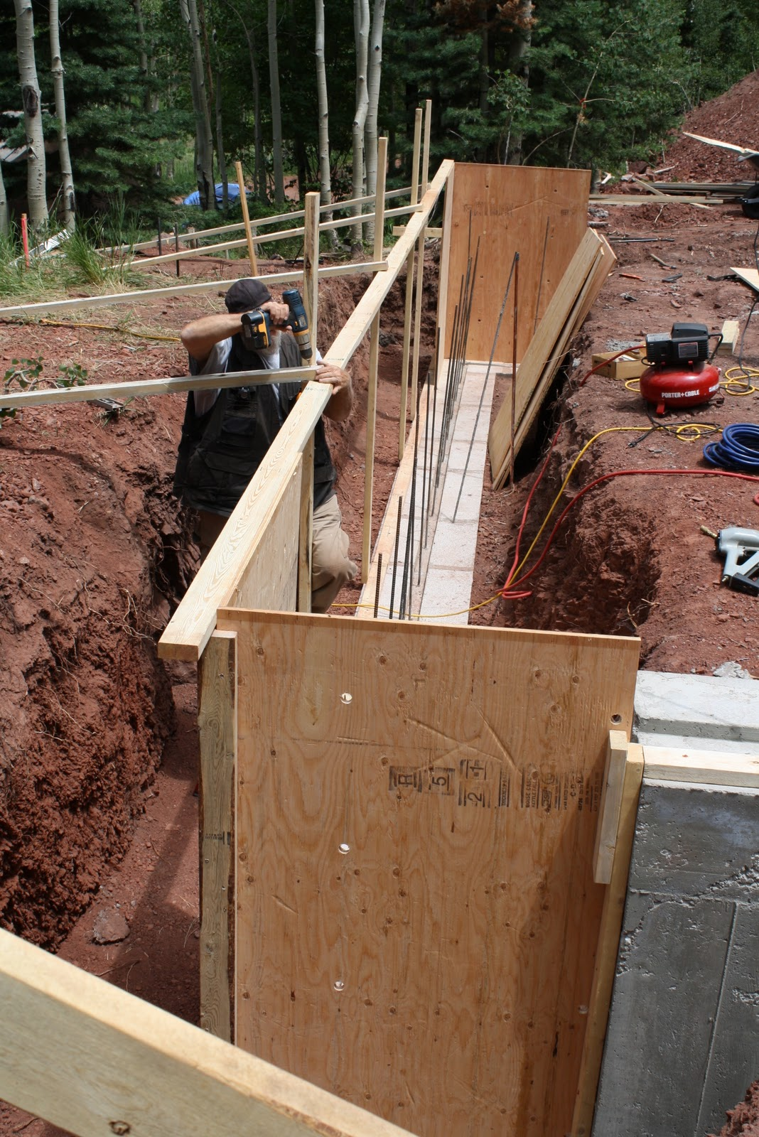 River run cabin cuchara colorado prep for basement walls