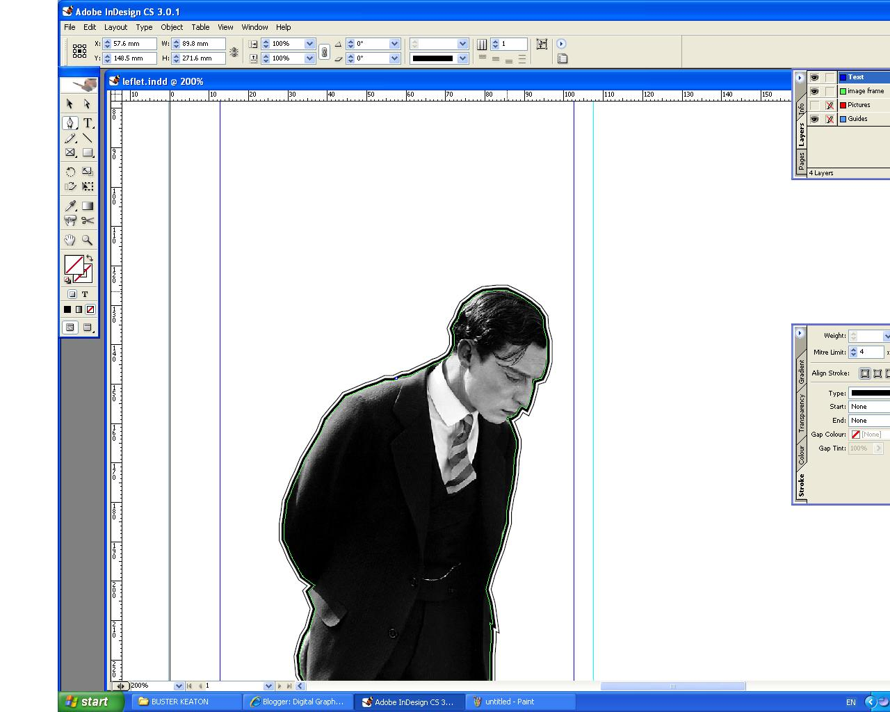 how to cut out a picture in indesign