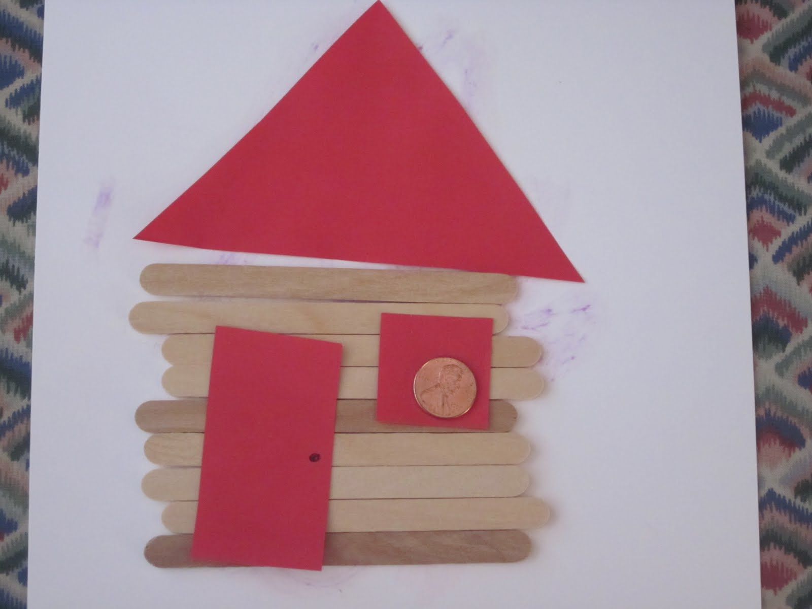 Preschool learning ideas abraham lincoln 39 s log cabin for Log cabin project