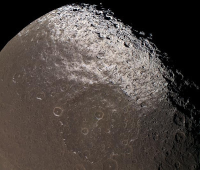 Iapetus in approximate natural colour