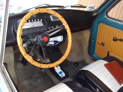 Fiat 500 mitica nuovo copri volante d 39 epoca per la for Moquette fiat 500 epoca