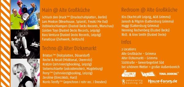 Techno Festivals: 19.6. Sommer Ferienlager @ Alte Großküche, Diska ab 23h
