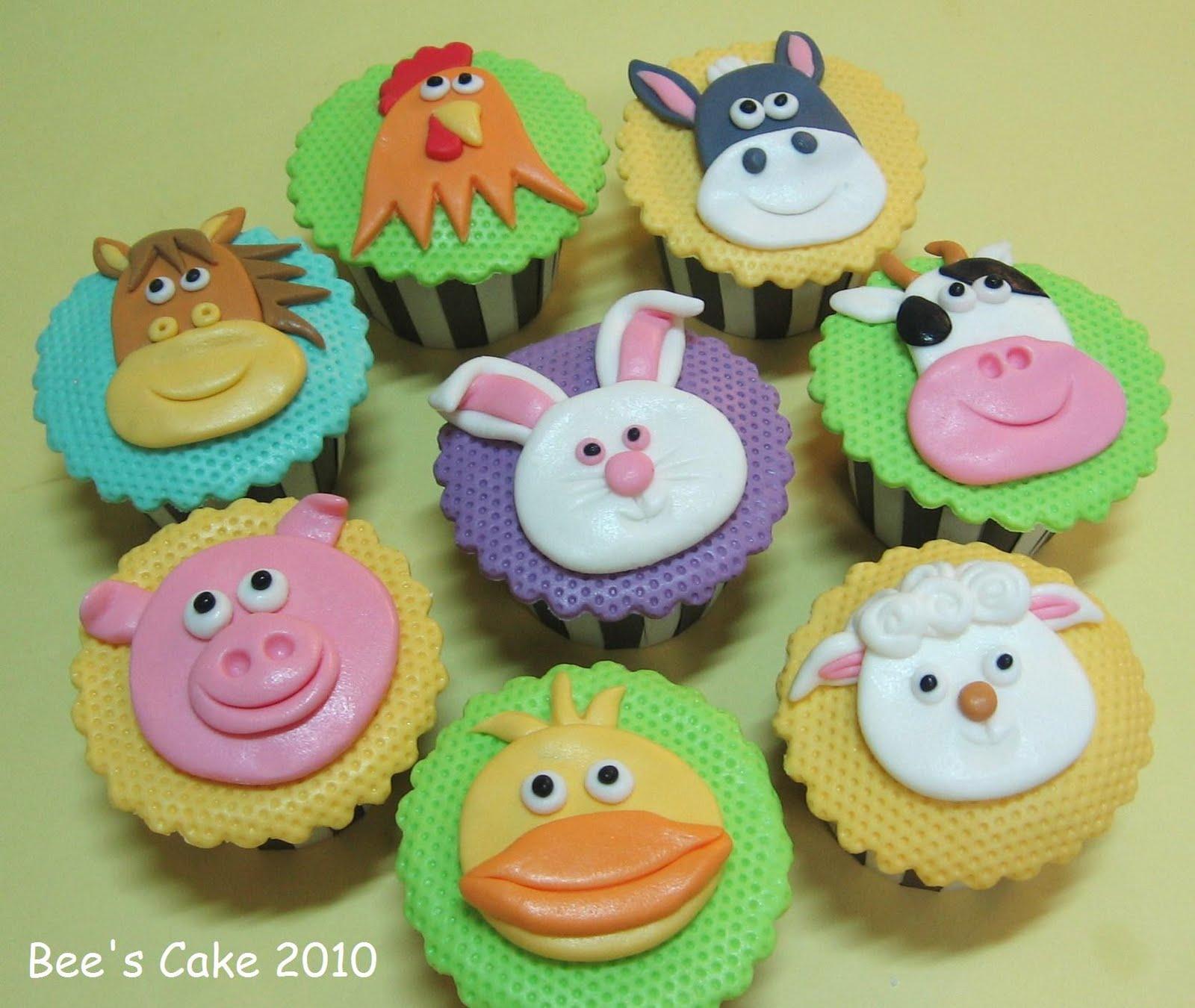 Animal Decorated Cupcakes