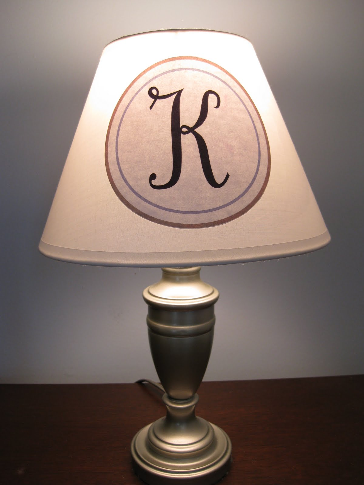 The hand me down house monogrammed light shade plus a monogram the hand me down house monogrammed light shade plus a monogram print for you mozeypictures Image collections