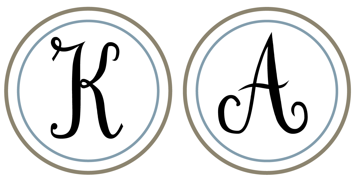 Peaceful image with regard to printable monogram