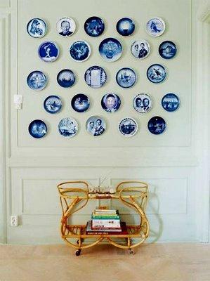 Aire retro platos en la pared - Platos decorativos pared ...