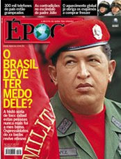 Chávez auf einem Cover-Entwurf des brasilianischen Magazins 'Época'