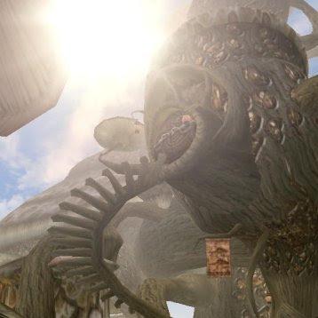 Screenshot eines Telvanni-Hauses aus dem Computerspiel 'Morrowind'