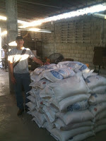 Mark next to 15,000 pounds of food supplies to families who had lost their homes , jobs and, for many, loved ones.