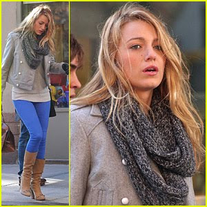 Blake Lively Tights on Blake Lively Blue Leggings Lovely Jpg