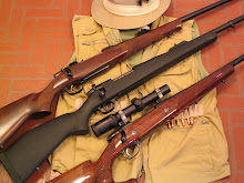 From the top, CZ 550 Safari Magnum, Weatherby Dangerous Game Rifle, Sako 75 Deluxe.