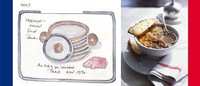 ... by artist, Dr. Shirley Levine, Onion Soup Au Gratin image