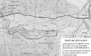 Mapa de restos arqueológicos de la zona