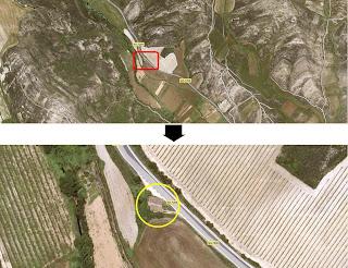 Zoom por satélite de la ermita de San Juan