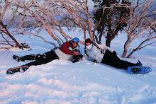 Snowshoe romance
