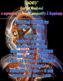 GAIETY: Gay Art Exposition na Le Balizé Art Gallery Sèptèmber 12-14