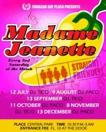 Mme Jeanette by Curacao Gay Plasa 13 di Sèptèmber