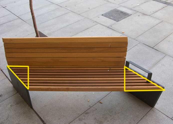 La forma y el fondo: Bancos para no sentarse.