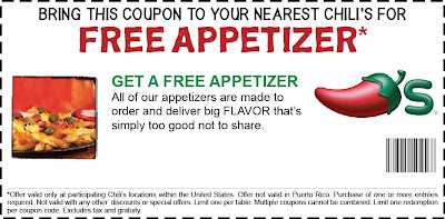 The life challenge chili 39 s free appetizer coupon - Olive garden take out menu with prices ...