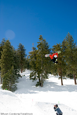 Triple Air Show, snowboard