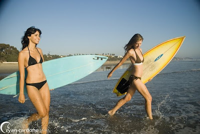 surfing female
