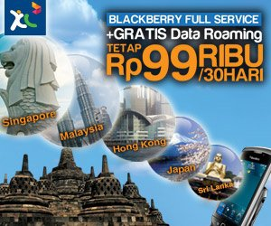 XL Blackberry Gratis Roaming Internasional Di 7 Negara