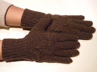Nature's Brown Wool Gloves