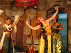 "An action shot from ""Ramayana-Abduction of Sita"" in the village of Kedisan, Bali"