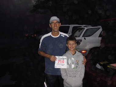 Pre-Race with  my son Avery