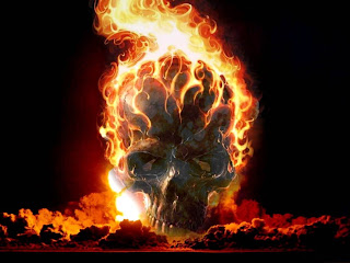 3D Burn Skull Wallpaper