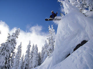 Jumping At Snow wallpaper