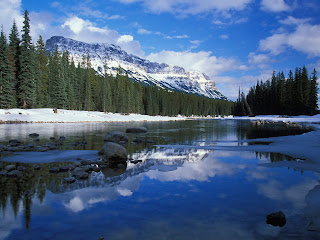 Bow River And Castle Mountain wallpaper