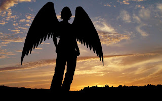 Angel And Sunset wallpaper